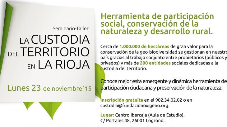 TALLER_Custodia Territorio_La Rioja_banner